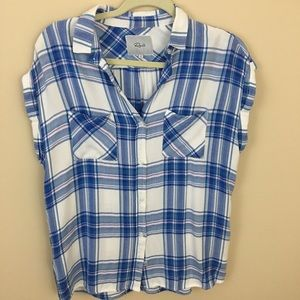 Rails Britt Plaid Shirt S Short Sleeves Rayon